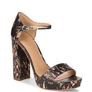 Pour La Victoire Yvette Platform Ankle Strap Heels